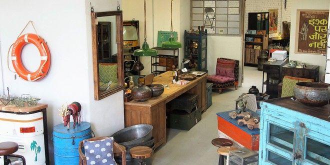 Indigo Express store Vienna....Industrial style, Vintage Möbel ...