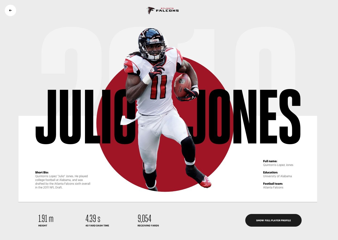 Julio Jones Atlanta Falcons Full Header Design Website Header Design Website Header