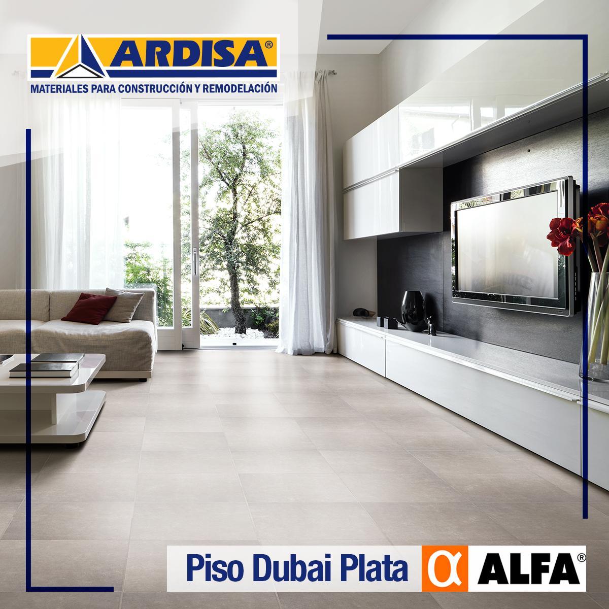 Conoce El Nuevo Piso Dubai Plata Marca Alfa En Nuestra Nueva Sala  # Muebles Bucaramanga Centro