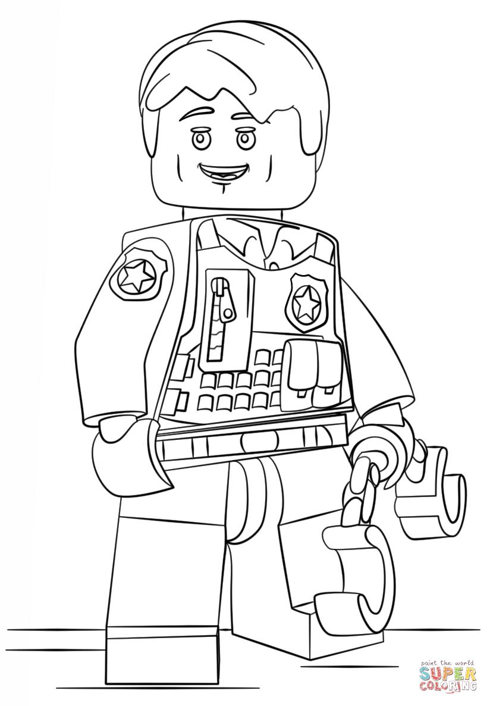 Ausmalbild Lego Verdeckt Ermittelder Polizist Ausmalbilder Kostenlos Zum Ausdrucken Ausmalbilder Lego Polizei Muster Malvorlagen