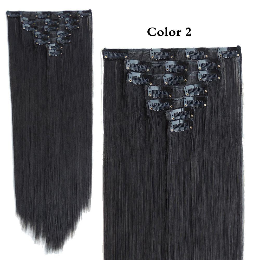 Mega Hair Extension Aplique De Cabelo Clip In Extensiones Shinion