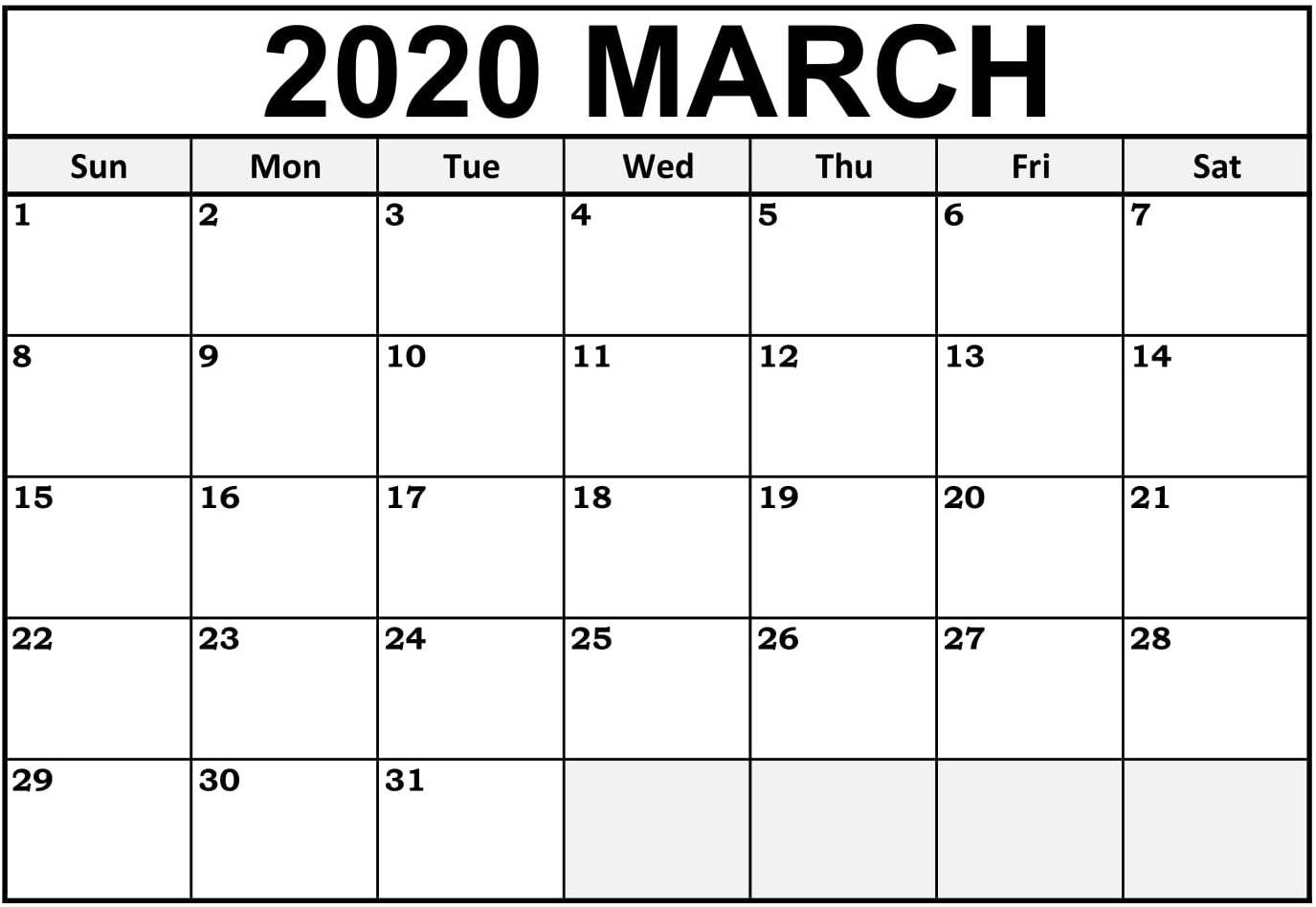 March 2020 Calendar Canada with National Holidays Set