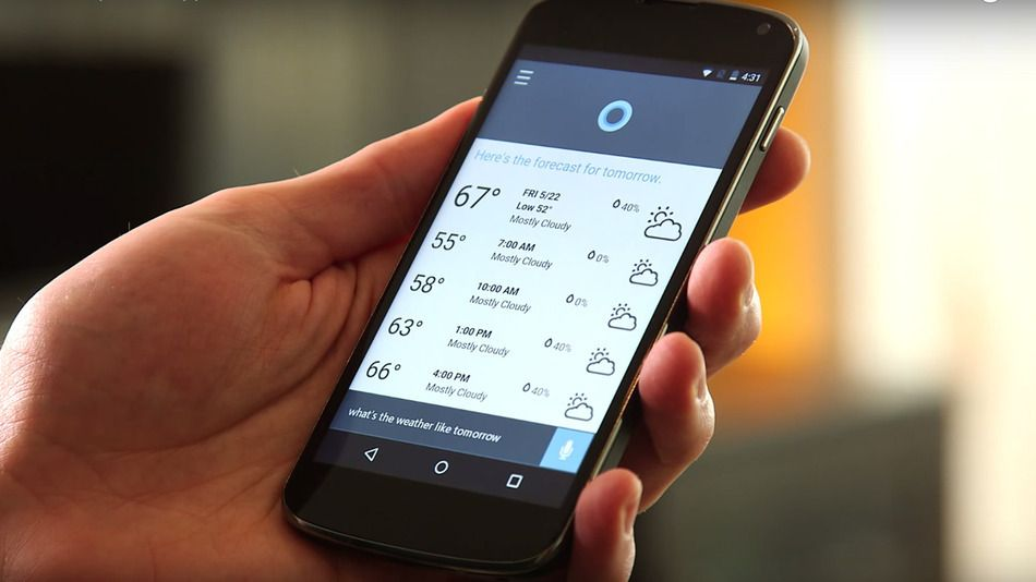 Microsoft released an early version of Cortana on Google