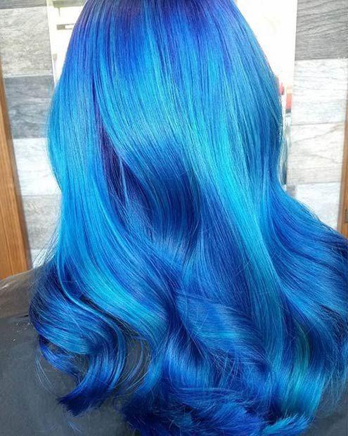 41 Beautiful Blue Hair Designs Hair Color Blue Blue Ombre Hair