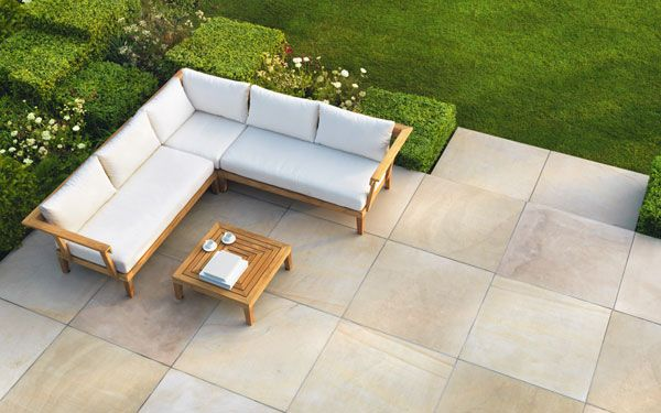 avant garde natural stone garden paving
