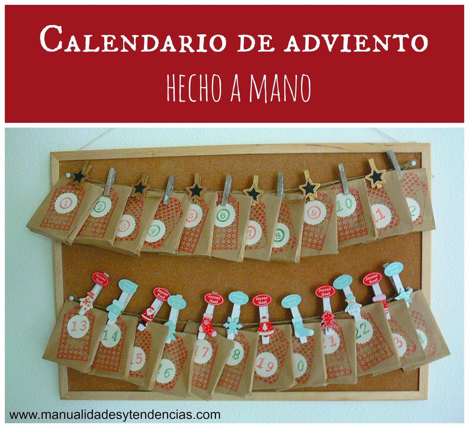 Calendario De Adviento Hecho A Mano Manualidades Decoraci N