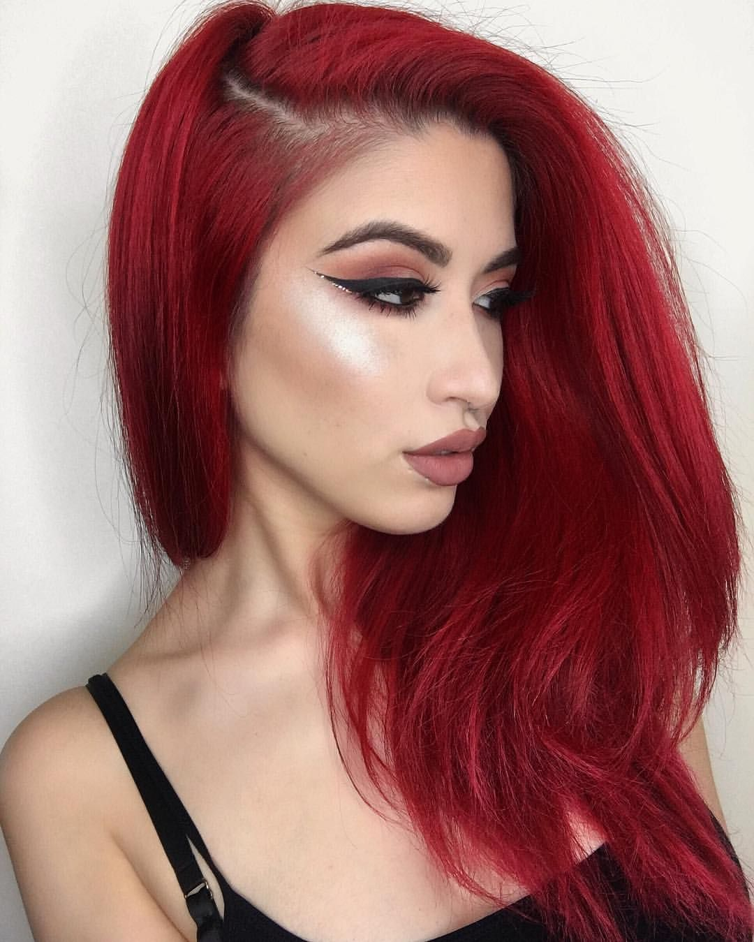 bright red short hairstyles fade haircut