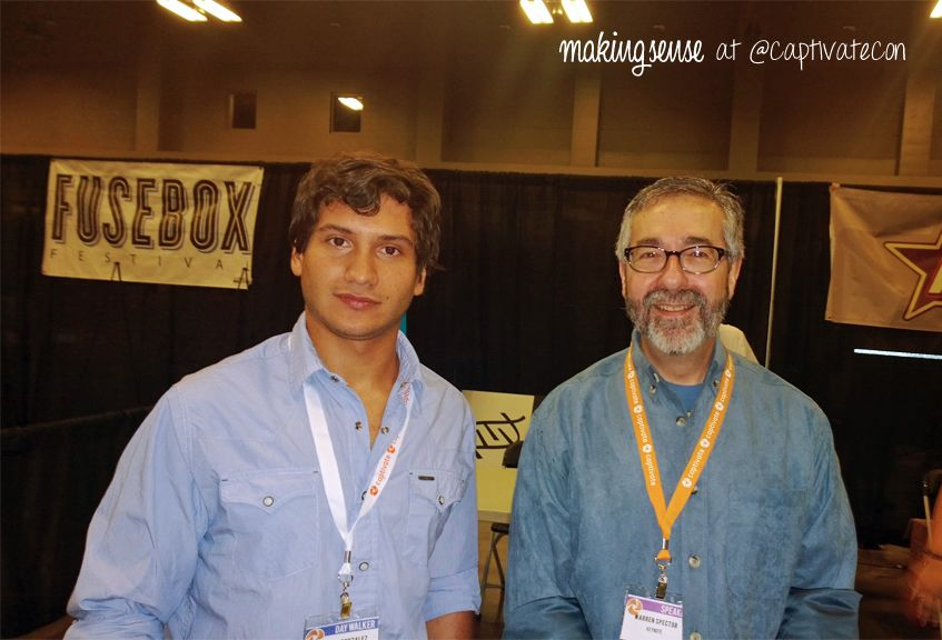 Our CGO Leandro Gonzalez Together With The Famous Video Game - Famous video game designers
