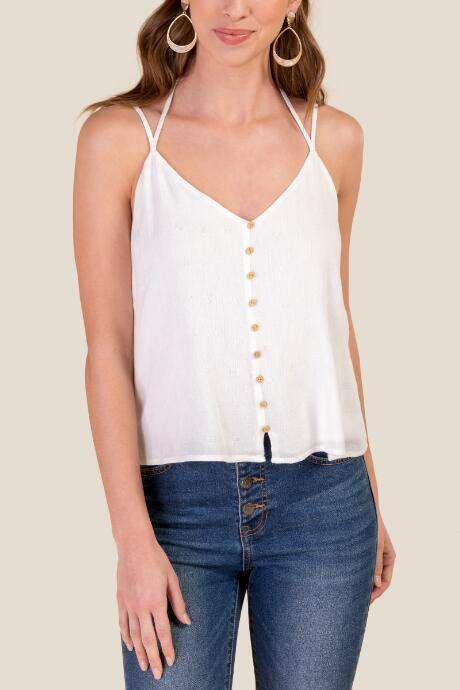 51d6eac70527 francesca's Shayla Double Strap Tank Top - White in 2019   Products ...