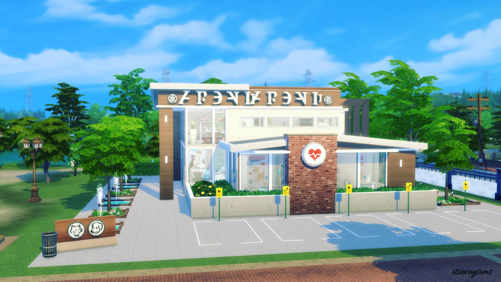 Vet clinic Vet clinics, Sims 4, Sims
