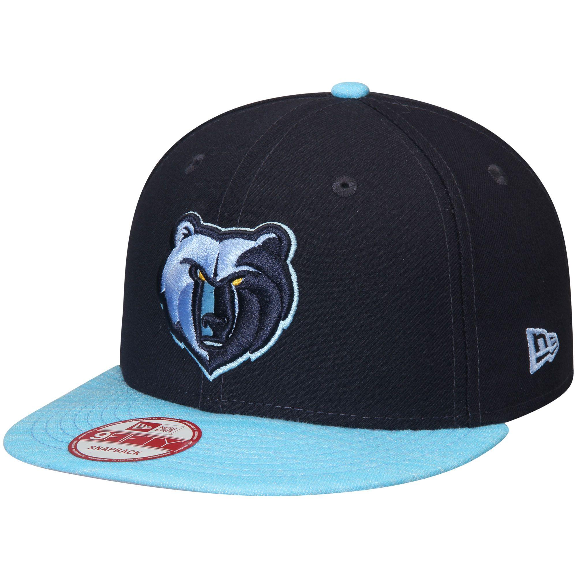 220f4f1510d Men s Memphis Grizzlies New Era Navy Blue Current Logo Team Solid 9FIFTY  Snapback Adjustable Hat