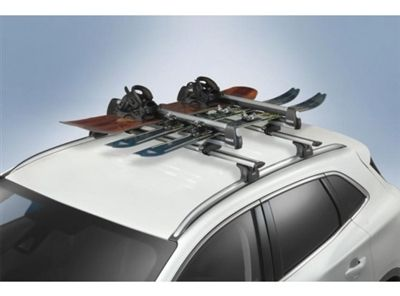 2008 2015 Ford Explorer Racks Ski Carrier Flat Top 6 Pair Ford Explorer Ford Edge Accessories Skiing