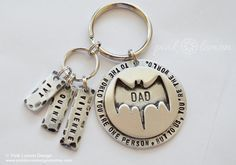 Batman Keychain - Personalized Superhero Key Chain for Dad, Father, Husband, Boyfriend - Christmas Gifts for Dad - Batman