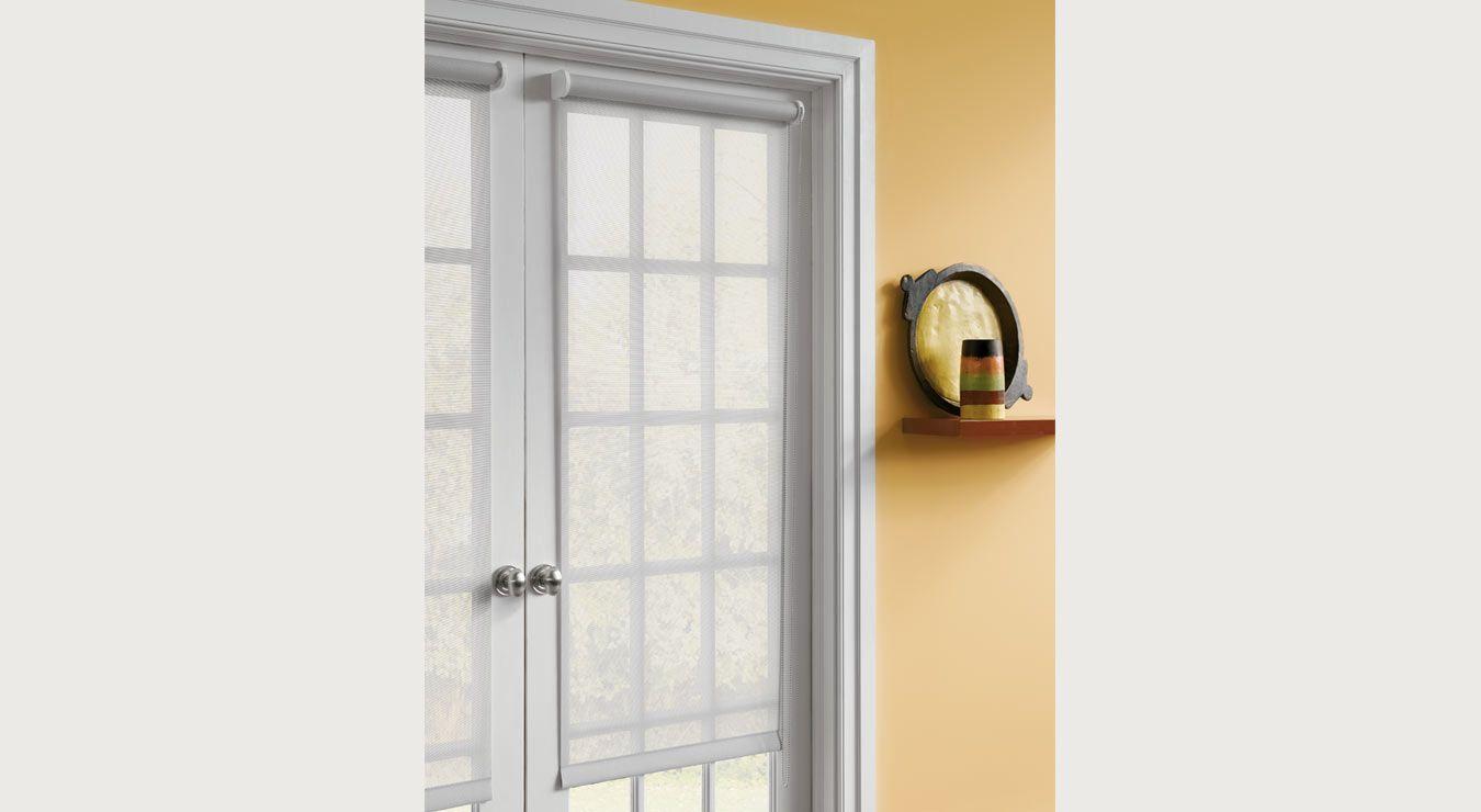 Livingroommaster french door roller shade door mounted home