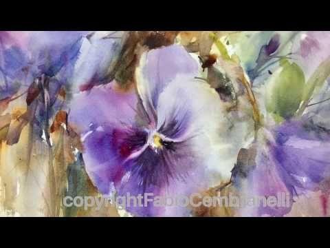 Pansy Youtube Fabio Cembranelli Tutoriels Peinture Aquarelle