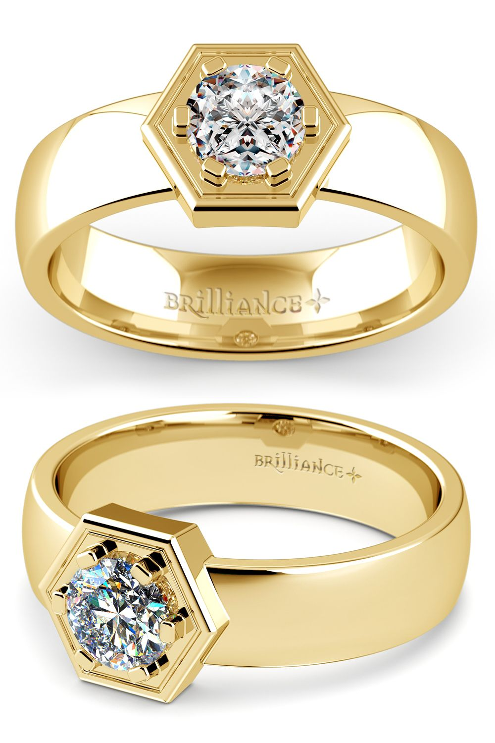 Talos Solitaire Mangagement Ring In Yellow Gold 3 4 Ctw My