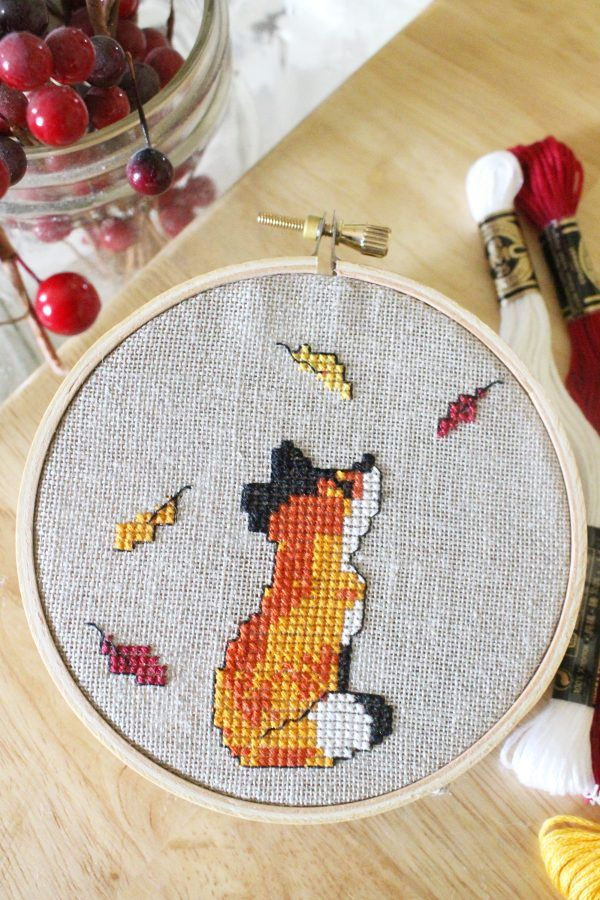 Photo of Fox In Leaves Fall Cross Stitch Pattern