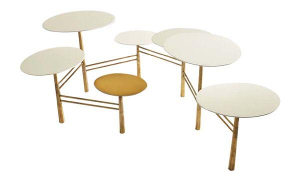 antony todd home-pebble coffee table - mid-century / modern coffee