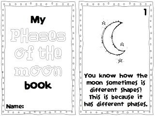 My Phases of the Moon Book FREE! A day in first grade