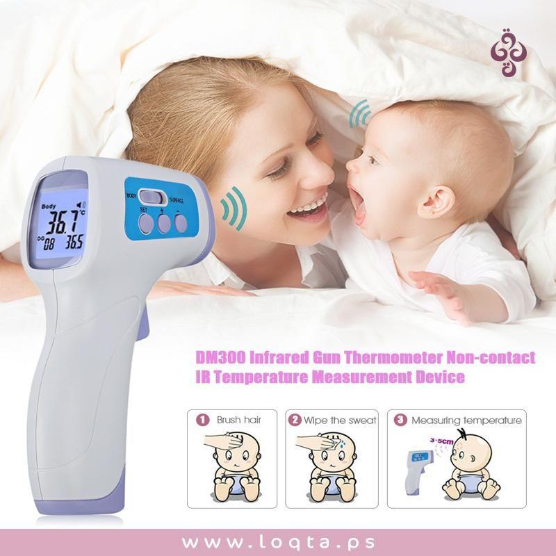 السخونة شئ صعب على الاطفال والامهات خلييكي على اطلاع دائم على صحة اطفالك ومتاعتهم ميزان حرارة الكتروني Dm Temperature Measurement Thermometer Infrared