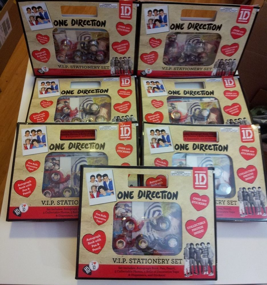 NEW One Direction 1D V.I.P Stationery Set Autograph Book Pen Pencil,More