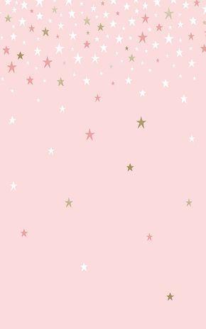 Falling Pink Stars Wallpaper Mural