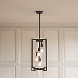 Home Decorators Collection 4 Light Pendant Light Fixture In Oil Rubbed Bronze The Home Depot Cana Pendant Light Fixtures Pendant Light Hanging Light Fixtures