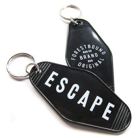 Vintage Style Hotel Motel Plastic Keychain Key Tag Fob Escape Forestbound a1f0252244