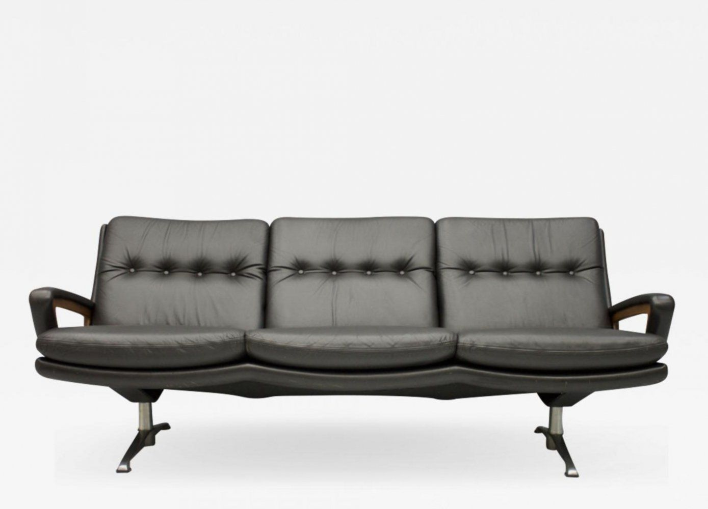 For Sale Dark Brown Leather Sofa By Carl Straub 1960s In 2020 Dark Brown Leather Sofa Brown Leather Sofa Dark Brown Leather