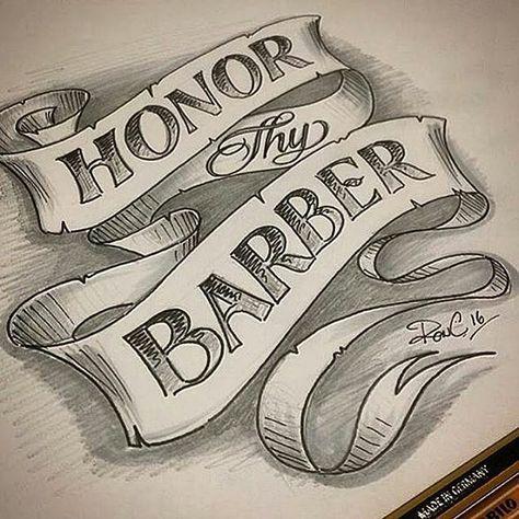 Pin By Pablo Calderon Calderon On Barbieri Barber Tattoo Barber Shop Decor Barber Quotes