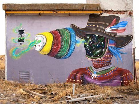 """Skount, """"Time layers"""" in Almagro, Spain, 2016"""