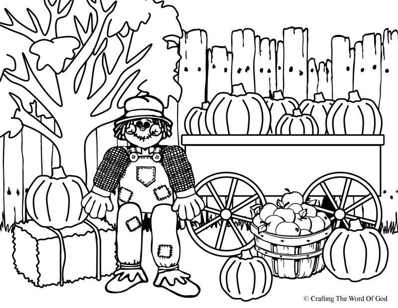 Scarecrows Coloring Sheets thanksgiving scarecrow coloring