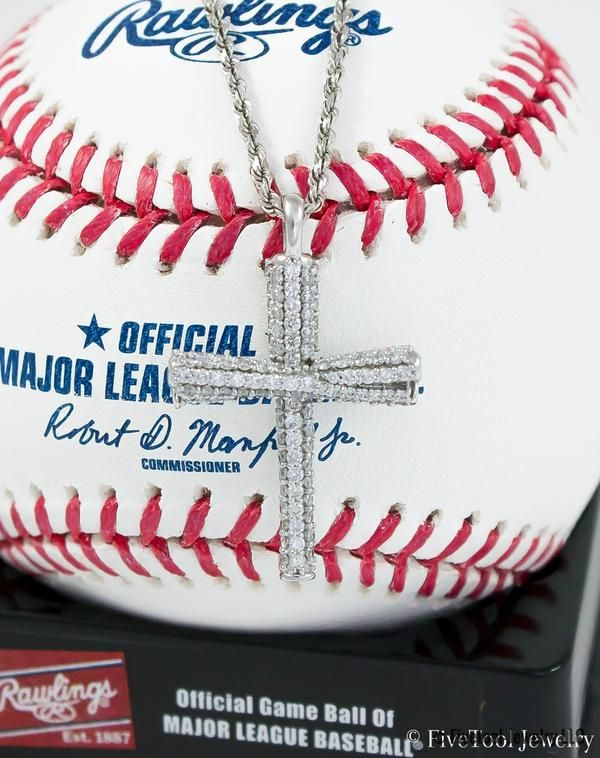 Nothing says #bling like this #diamond #studded #baseball #bat #cross! Worn by #MLB #players
