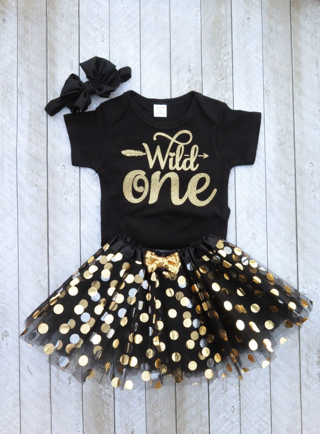 Wild one Wild one first birthday Black and gold first