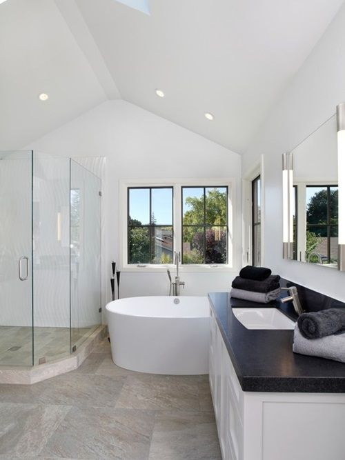 Different Types Of Bathroom Interior Design Modern And - Contemporary bathrooms vaulted ceiling