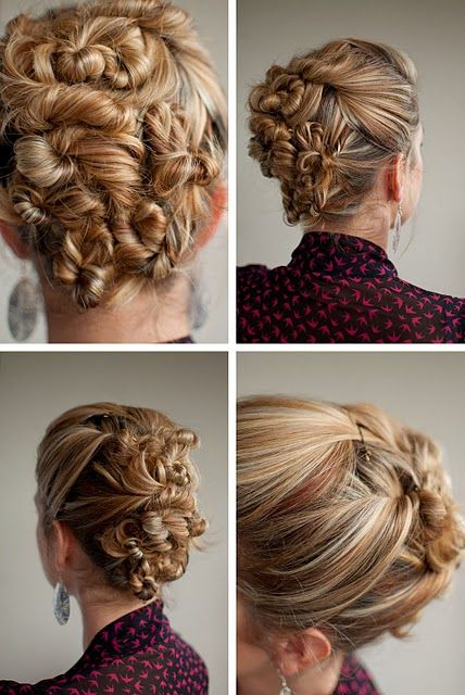 Day 29 of the Hair Romance challenge - Classic Twist & Pin hairstyle
