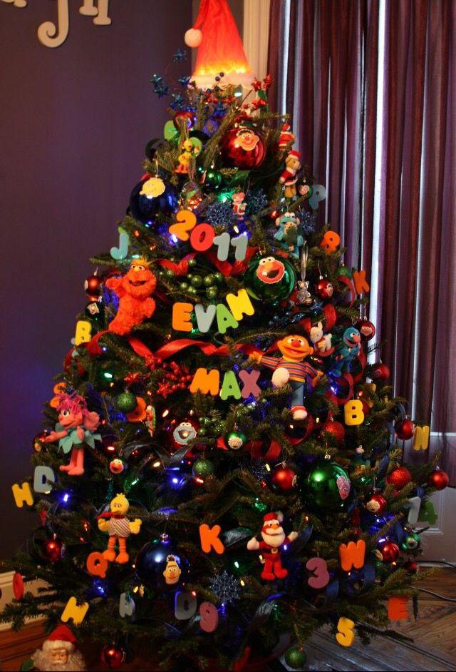 Sesame Street Christmas Tree Sesame Street Christmas Cool Christmas Trees Christmas Tree Themes