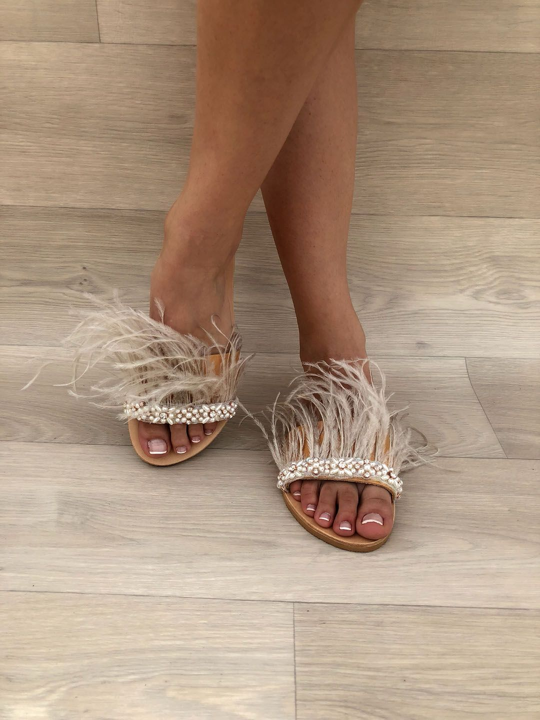 ac3df4a547c Pearls Slide Sandals in 2019