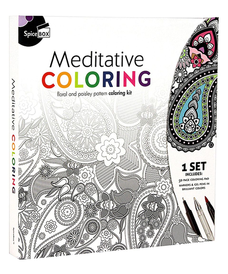 This Meditative Coloring Kit By Spicebox Is Perfect Zulilyfinds Meditative Coloring Meditation Color Kit