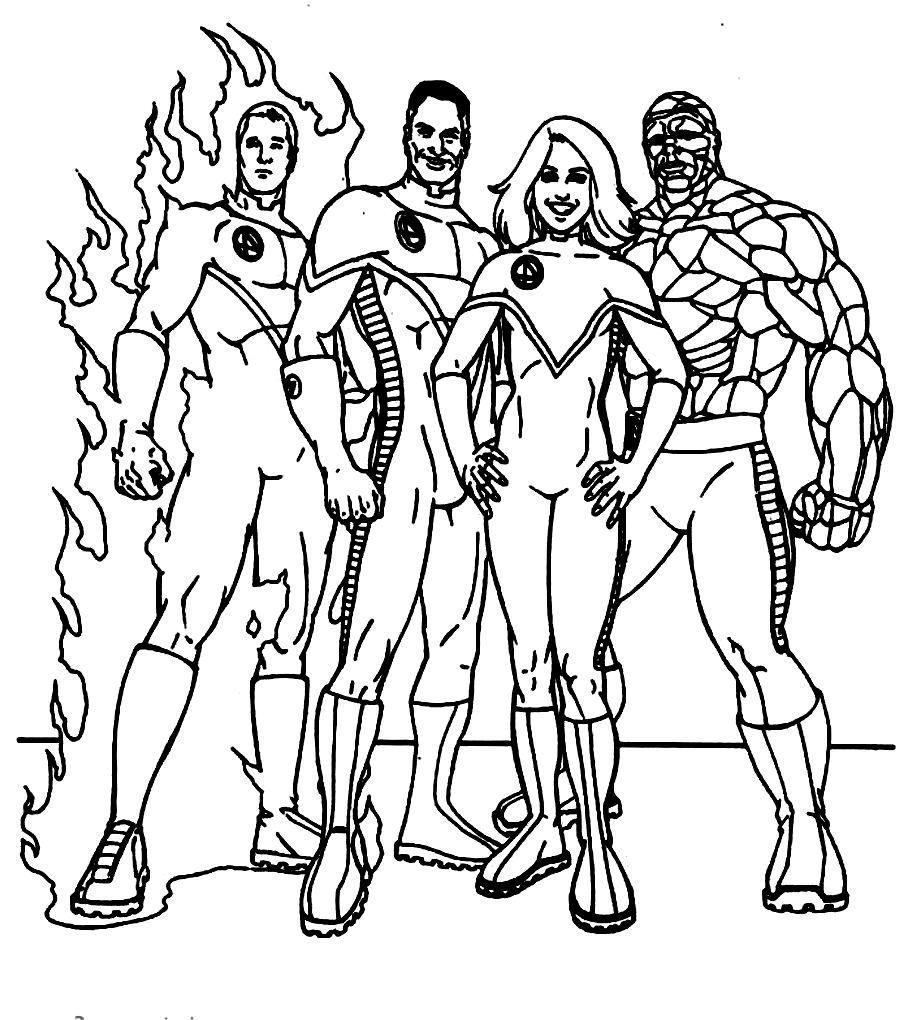 Uncategorized Fantastic 4 Coloring Pages fantastic four pose coloring pages pinterest for kids printable kids