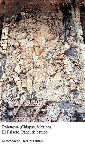 Estuco de El Palacio,Palenque Chiapas,Mexico .  Palenque es una de las ruinas arqueologicas mas bellas...