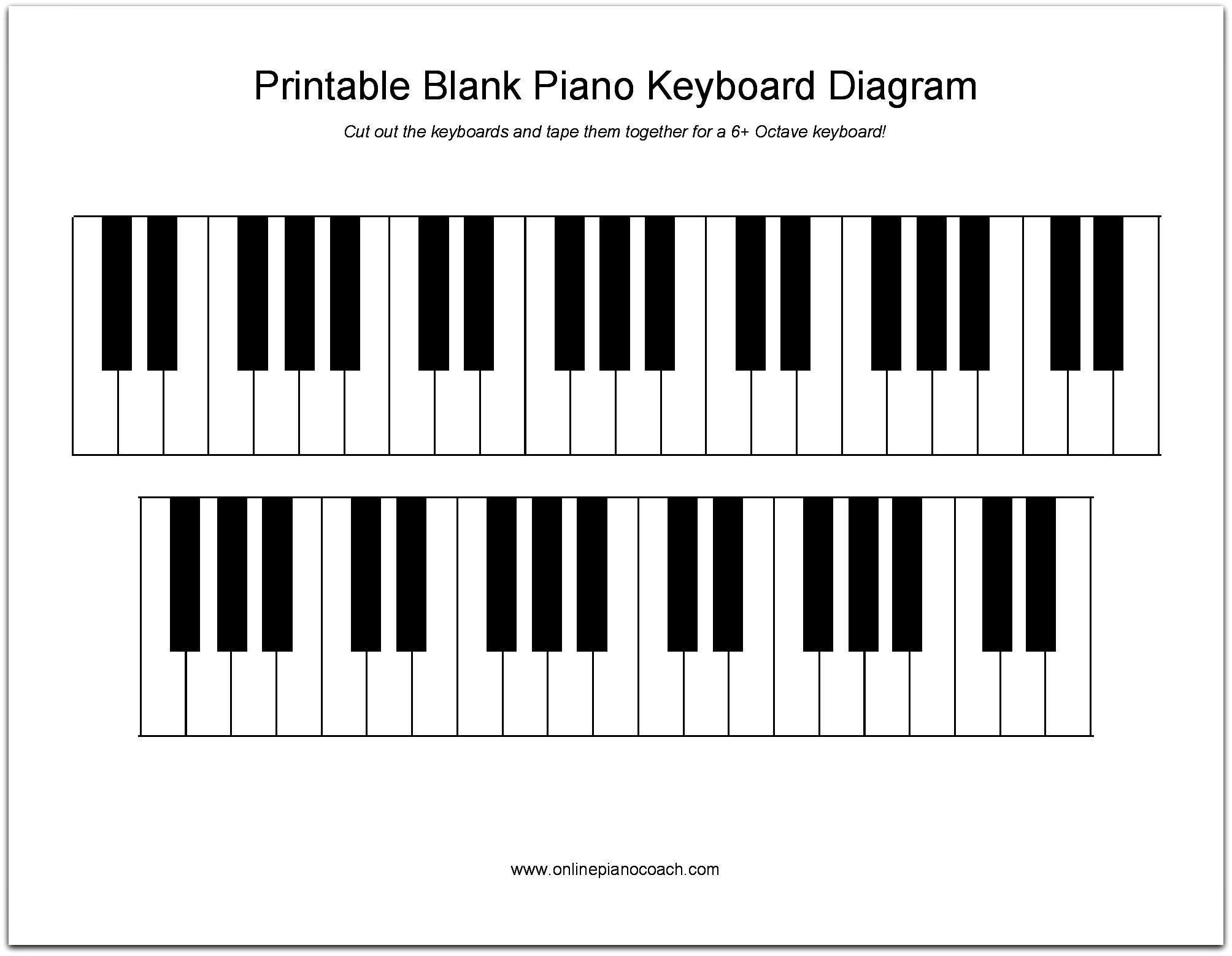 piano keys diagram