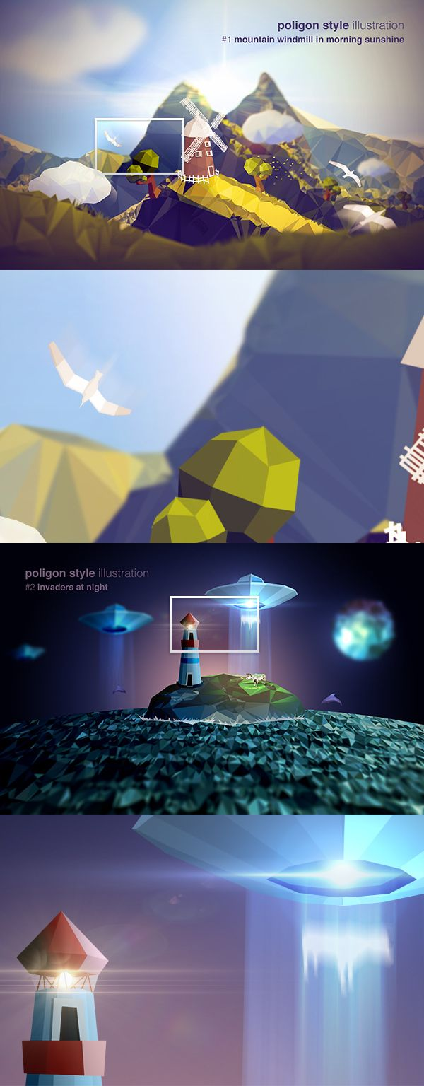 Vector based illustration concepts on Behance