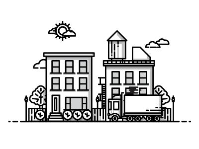 City Icons City Icon Illustration Outline Illustration