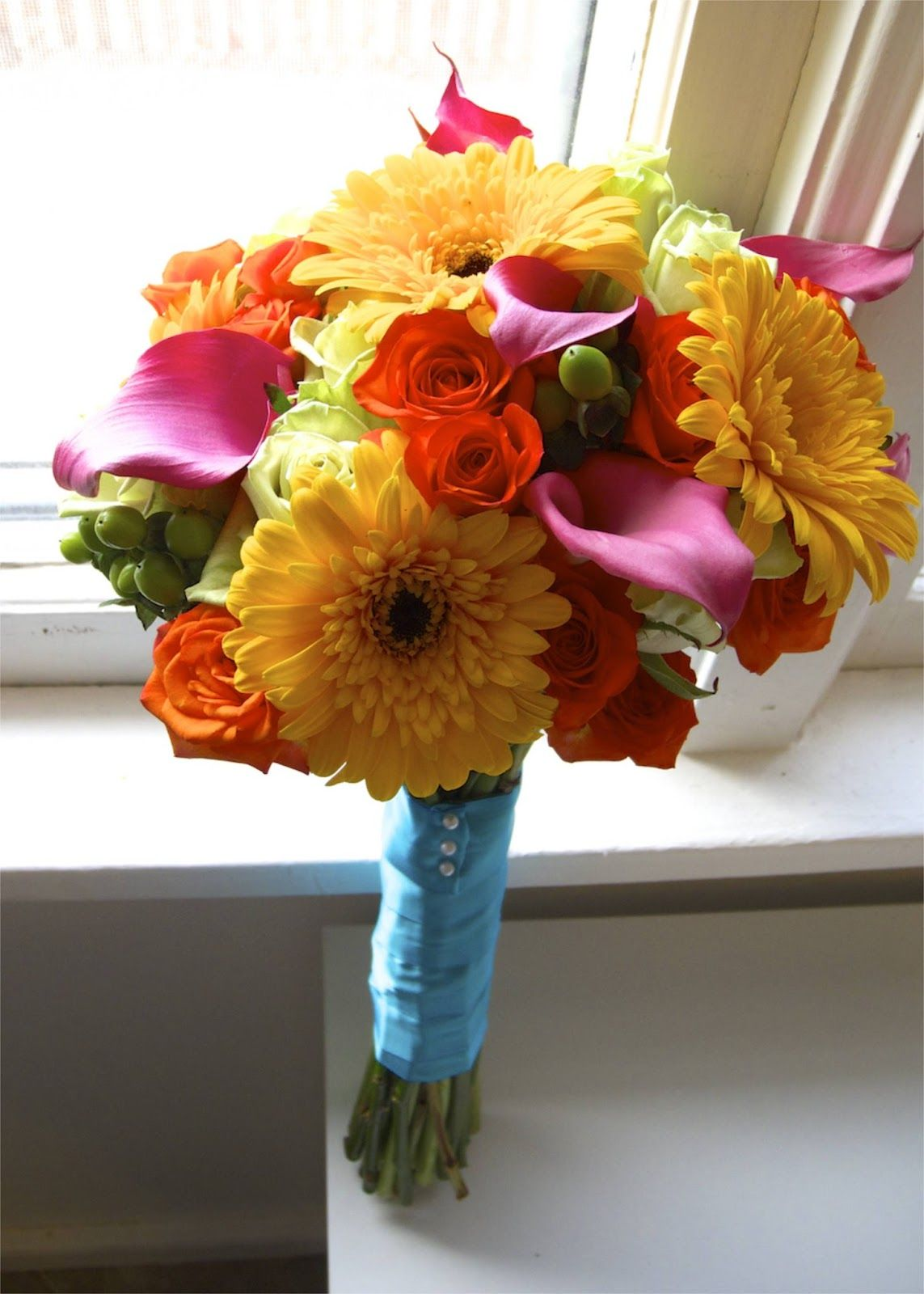 The Flower Girl Blog: bright summer wedding flowers