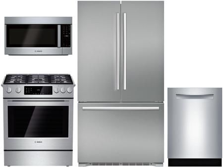 4 Piece Kitchen Appliances Package With B21ct80sns 36 French Door