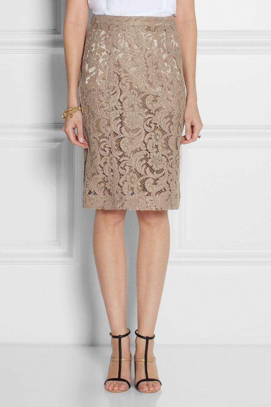 Burberry London Cotton-blend lace pencil skirt NET-A-PORTER.COM