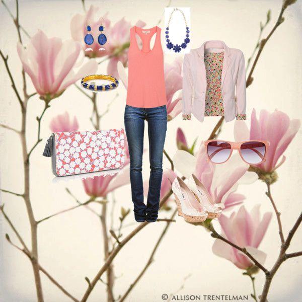 Springtime, created by callie-mae-fife on Polyvore