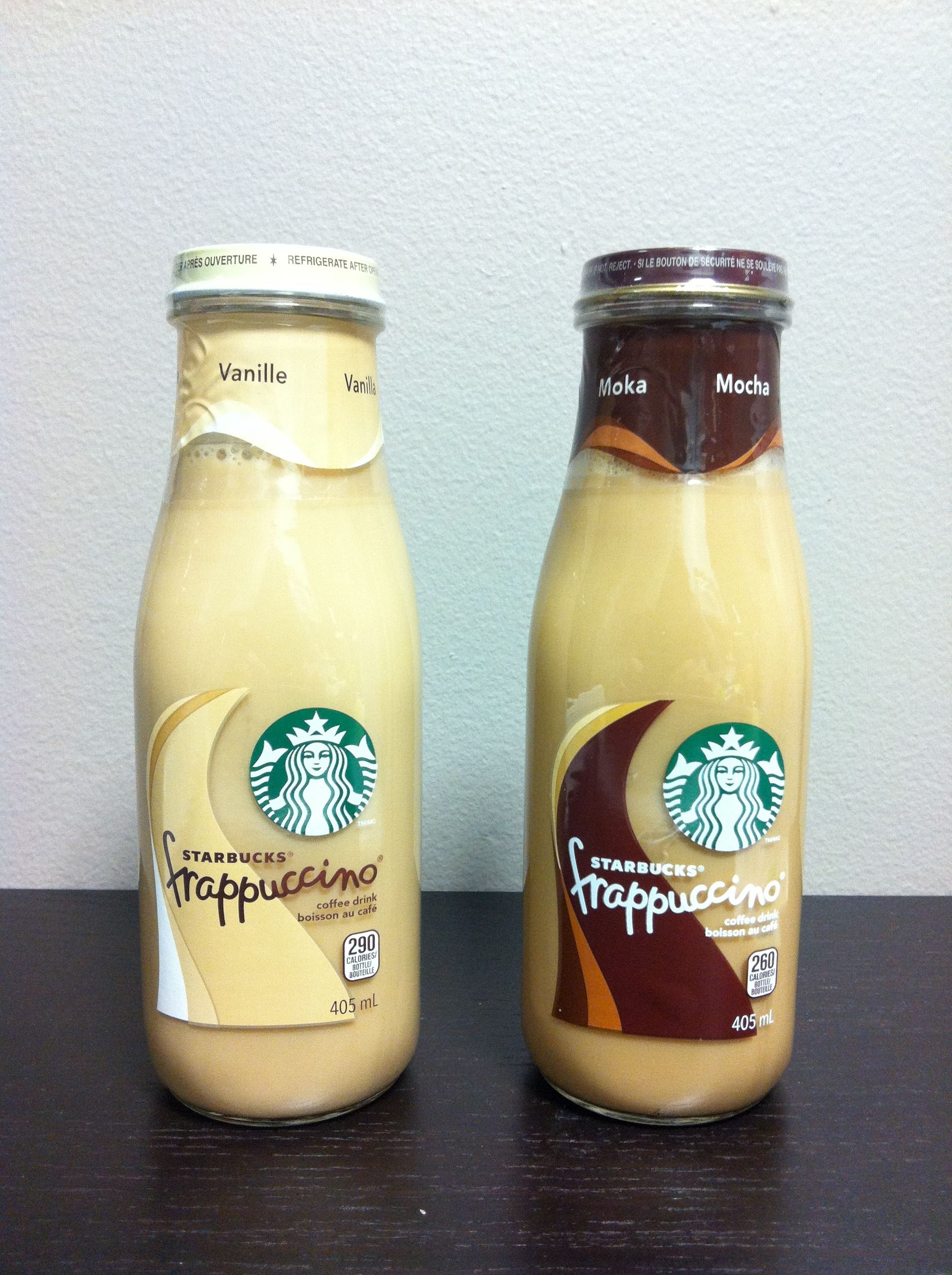 The Starbucks bottled frappuccino had a stronger coffee