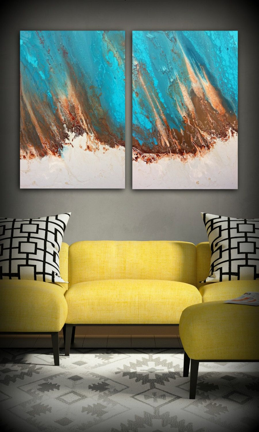 Love that diptych painting! | Creative Projects | Pinterest | Extra ...
